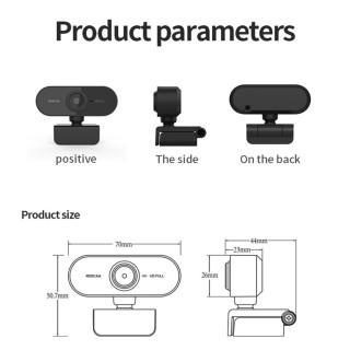 Webcam siêu bền Độ Phân Giải Cao 1080p, Tích Hợp Micro Cho Học Tập cắm cổng usb kèm mic DNGTech DT08 1080P, WebCam USB Kỹ Thuật Số, Máy Ảnh Web HD, dùng được cho laptop và máy tính bàn. thumbnail