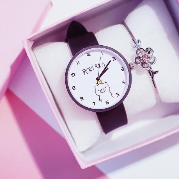 Nơi bán Đồng hồ thời trang nam nữ Candycat Heo Kute dây silicon cực xinh MS778