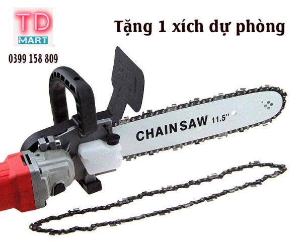 Bộ lam xích lưỡi cưa gắn máy mài chain saw trục 10 mm thêm 1 xích sơcua