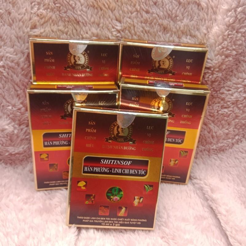 Combo 5 hộp Dầu gội SHITINSOF Hán Phương Linh Chi Đen Tóc nhập khẩu