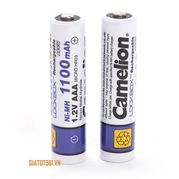 Giá Vỉ 2 Pin Sạc Camelion AAA 1100mAh 1,2V máy ảnh, thiết bị điện tử (Trắng) BT79