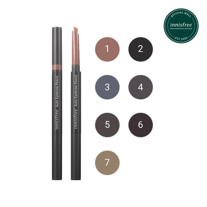 Chì kẻ chân mày innisfree Auto Eyebrow Pencil #5 Espresso Brown 0.3g