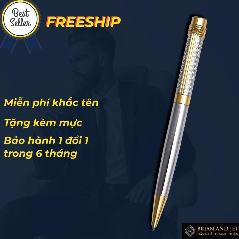 Mua [KHẮC TÊN MIỄN PHÍ]  [MIỄN PHÍ VẬN CHUYỂN] [TẶNG MỰC ĐI KÈM] B&J - Bút (viết) bi ký tên cao cấp bằng kim loại BJ004 dành cho doanh nhân, khẳng định đẳng cấp cá nhân bút xoay thân ( vặn) -phù hợp cho viết nhật ký, ghi chú công việc