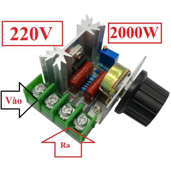 Mạch Dimmer 2000W 220V dùng để điều chỉnh tốc độ động cơ, điều chỉnh độ sáng đèn