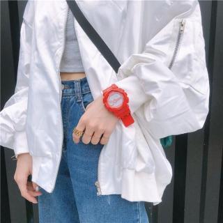 Đồng hồ nữ, đồng hồ dây cao su nữ, đồng hồ thể thao nữ Shhors dây cao su đỏ đẹp mắt, kính chống xước, chống nước nhẹ (tặng kèm pin) - binhminhwatch thumbnail