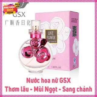 Nước hoa nữ Love Flower 3 bông hoa hồng dễ thương mùi hương ngọt ngào quyến rũ - Thơm rất lâu nhé, nhỏ gọn bỏ túi dung tích 55ml - Nuoc hoa nu gia re - hang 1k 10k thumbnail