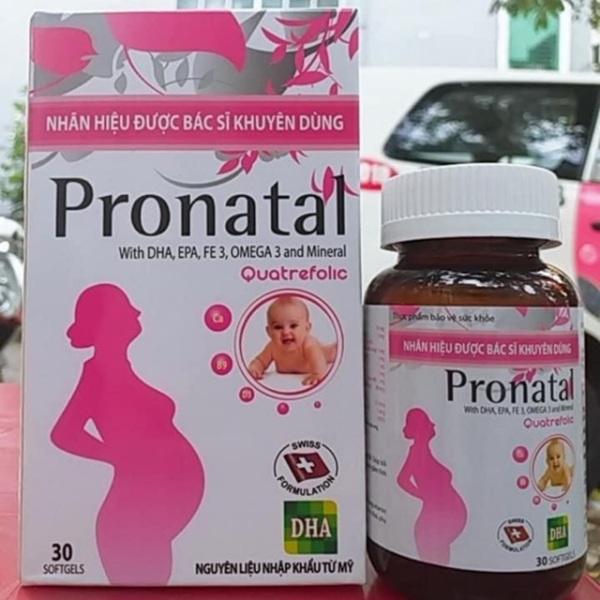 Pronatal DHA cung cấp dưỡng chất cho bà bầu, bổ sung canxi, sắt và vitami cho mẹ bầu và cho con bú cao cấp