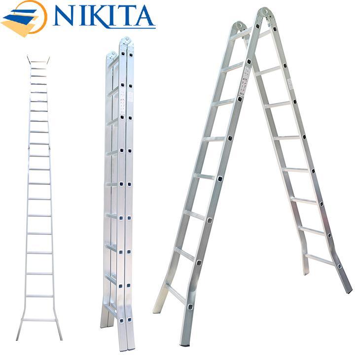 Hình ảnh Thang Nhôm Chữ A Nikita NIK25 Nhật Bản - 5,0m Tải trọng 150kg