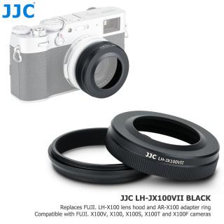 JJC Camera Lens Hood Shade Protector - Adapter Ring For Fujifilm X100V X100 X100S X100T X100F Replace Fujifilm LH X100 - AR X100 thumbnail