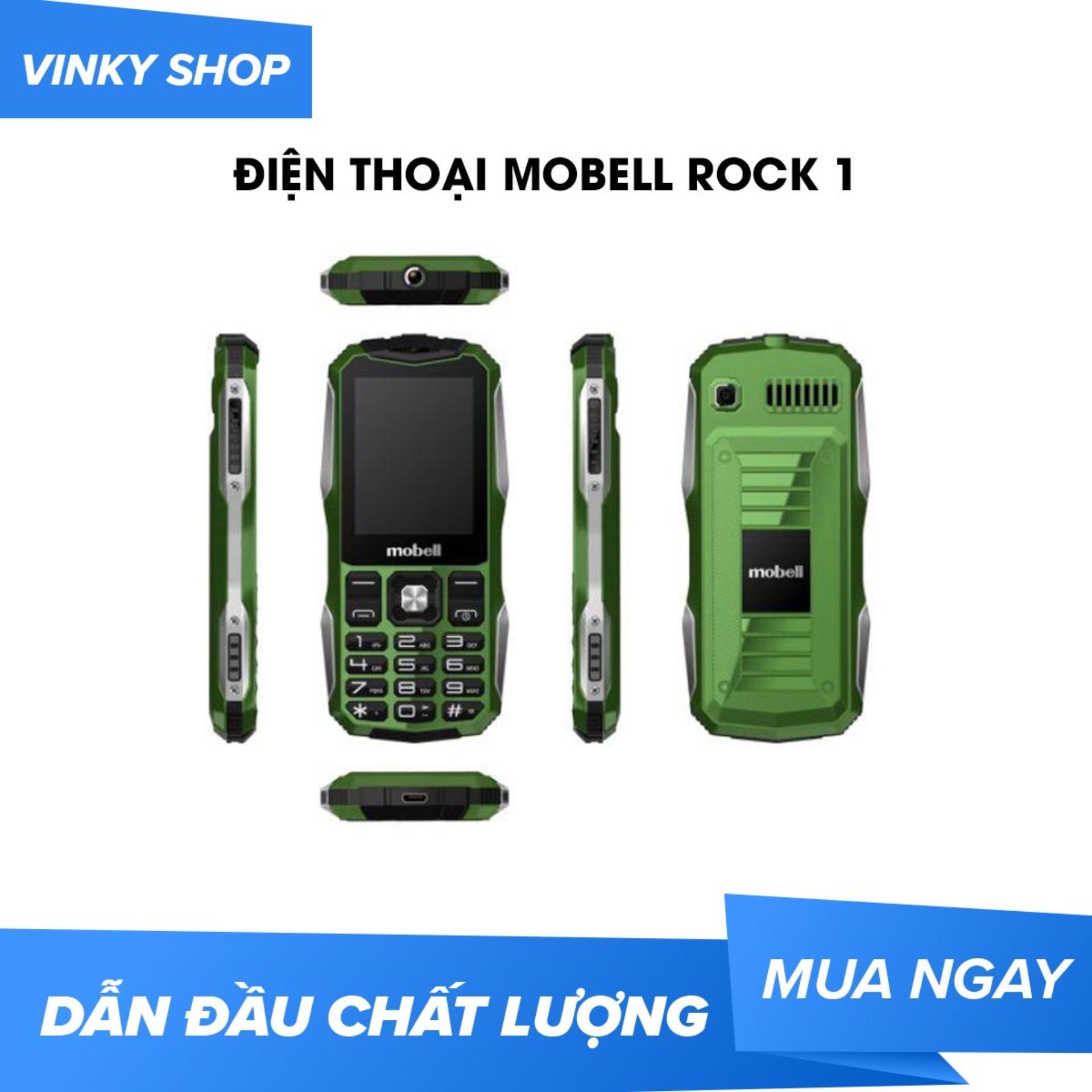 Điện thoại Mobell Rock 1 loa to pin trâu sóng khỏe mới Fullbox Bảo hành 12 tháng