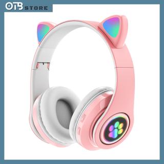 Tai Nghe Mèo Bluetooth , Headphone Tai Mèo Dễ Thương Có Mic,Âm Bass Mạnh Mẽ Và Dung Lượng Pin Khủng 400mAh thumbnail