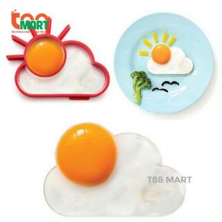 Khuôn nấu ăn tạo hình trứng hình đám mây ông mặt trời đáng yêu cho bé bữa ăn ngon miệng, chất kiệu silicon chịu nhiệt an toàn cho bé thumbnail
