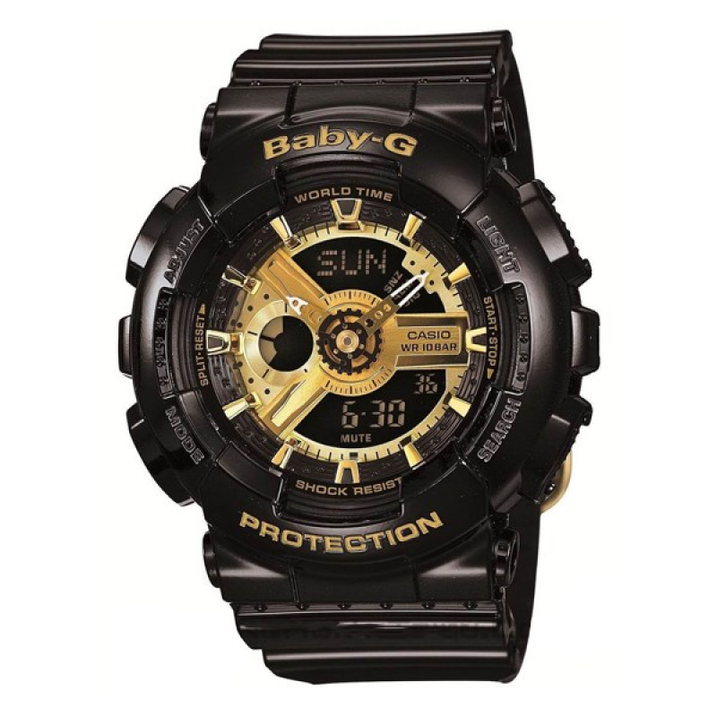 Đồng hồ casio nữ dây nhựa chính hãng BABY-G BA-110-1ADR