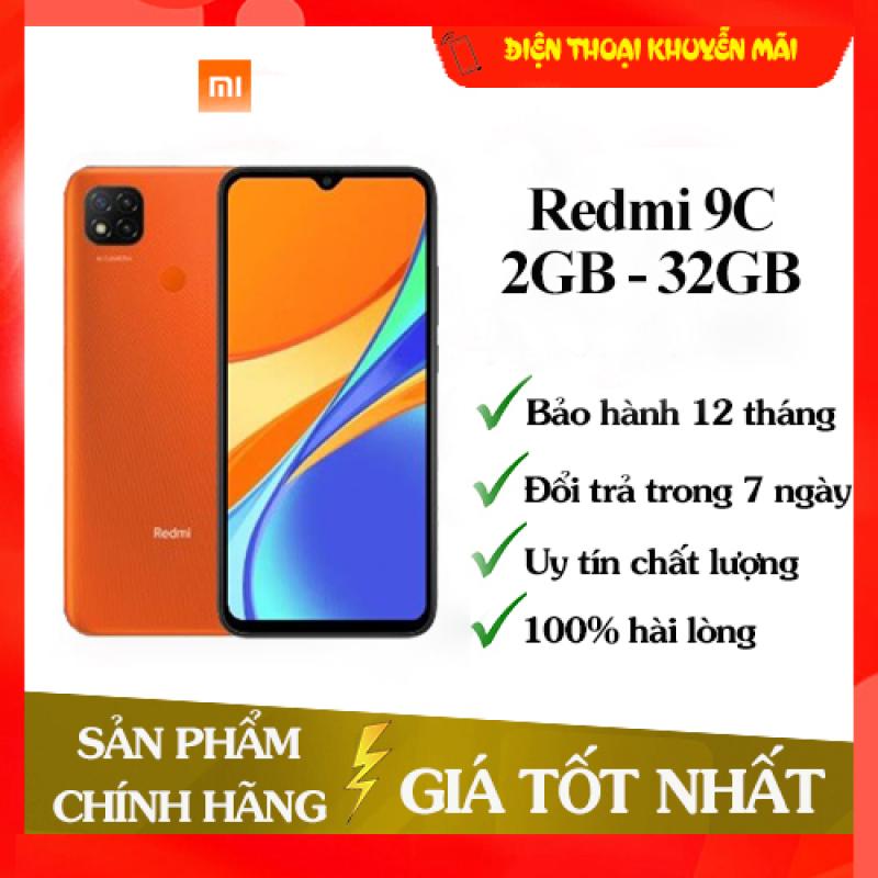 Điện thoại Xiaomi Redmi 9C RAM 2GB ROM 32GB - Sẵn Tiếng Việt, Hàng mới 100%, Nguyên seal, Chính hãng, Bảo hành 18 tháng [Điện thoại giá rẻ]