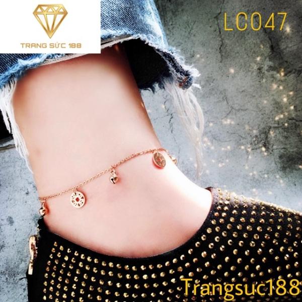 Lắc chân titan dễ thương LC047