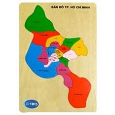Hình ảnh Đồ chơi gỗ Bản đồ TP Hồ Chí Minh Winwintoys C167