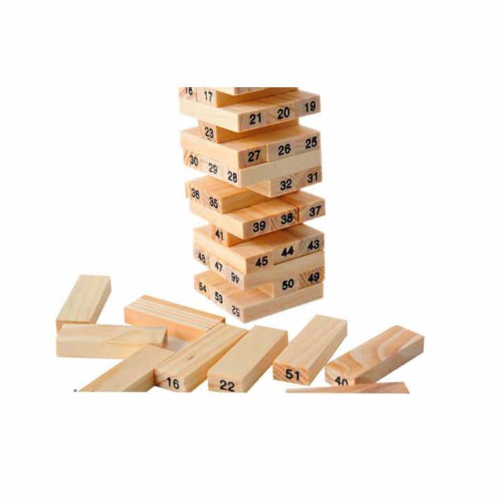 Đồ chơi rút gỗ 54 thanh Verygood (Nâu gỗ)
