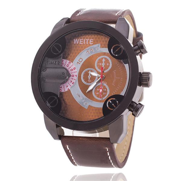 Đồng hồ đeo tay nam dây giả da Weite WT047_BR5948 (Nâu)