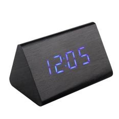 Bán Đồng Hồ Gỗ Bao Thức Wood Led Digital Desk Alarm Xanh Dương Có Thương Hiệu Nguyên