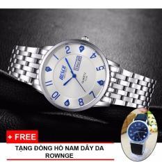 Giá Bán Đồng Hồ Nam Bosk May Nhật Co Lịch Chống Nước Day Inox Chống Rỉ Mặt Số White Tặng Đồng Hồ Nam Day Da Rownge Trực Tuyến Hà Nội