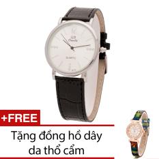 Bán Đồng Hồ Nam Day Da Bewatch Đen Tặng Kem 1 Đồng Hồ Day Da Thổ Cẩm Rẻ Nhất