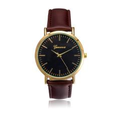 Nơi bán Đồng hồ nam dây da tổng hợp Geneva GE021-4 (Nâu đen)