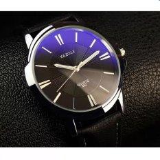 Hình ảnh Đồng hồ nam dây da Yazole YR332 (Đen mặt xanh)