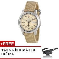 Giá Bán Đồng Hồ Nam Day Du Seiko 5 Snk803K1 Vang Kem Tặng 1 Kinh Mat Đi Đường Seiko Nguyên