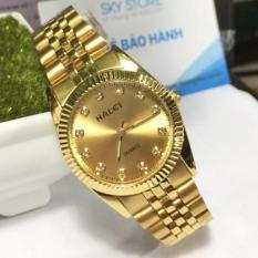 Đồng hồ Nam dây thép mạ vàng chống nước HALEI 356M1 bán chạy