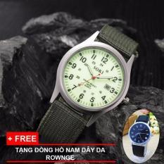 Mua Đồng Hồ Nam Day Vải Soki Quan Đội Chống Nước Mặt Số White Tặng Đồng Hồ Nam Day Da Rownge Mới Nhất