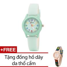 Giá Bán Đồng Hồ Nữ Day Cao Su Bewatch Xanh La Tặng Kem 1 Đồng Hồ Day Da Thổ Cẩm Mới