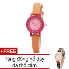 Mua Đồng Hồ Nữ Day Da Bewatch Cam Tặng Kem 1 Đồng Hồ Day Da Thổ Cẩm Mới Nhất