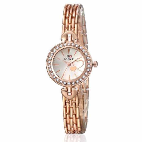 Đồng hồ nữ dây da Soxy PKHRSY002-1 (vàng hồng)
