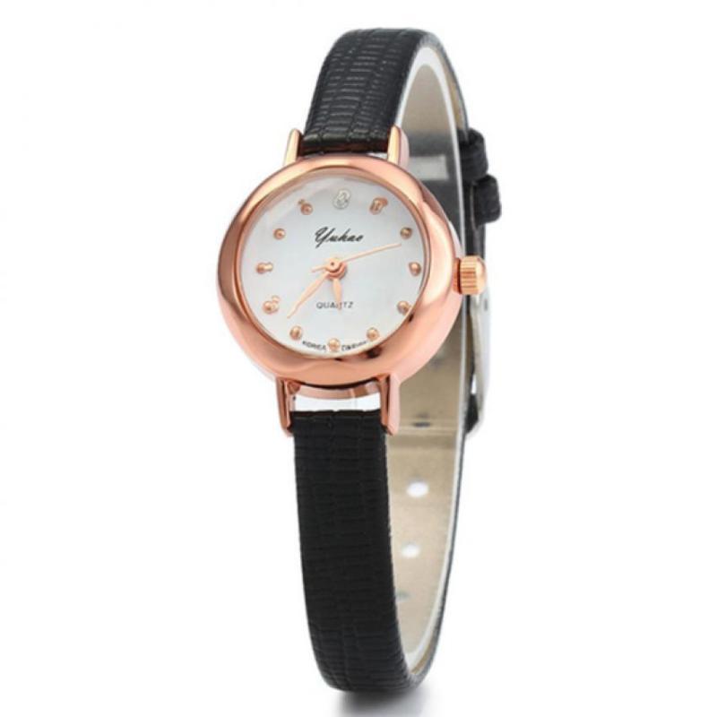 Nơi bán Đồng hồ nữ dây giả da HQ JH044_BL4968 (Đen)