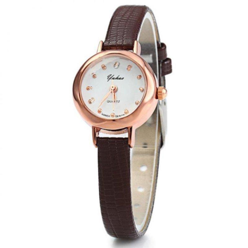 Nơi bán Đồng hồ nữ dây giả da HQ JH044_BR4968 (Nâu)