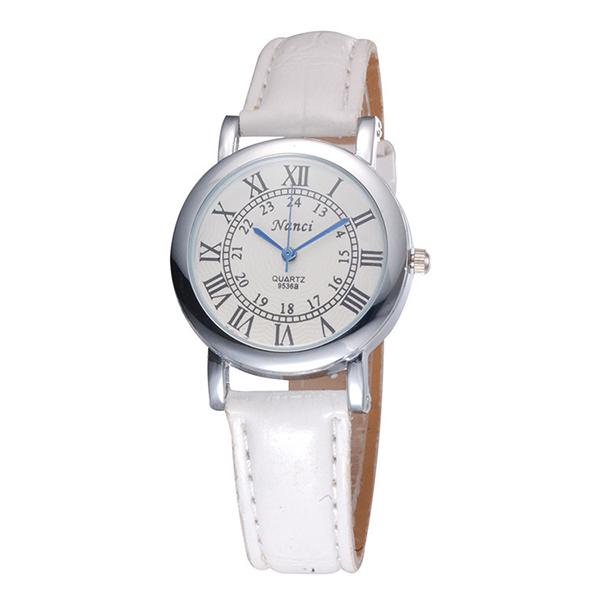 Đồng hồ nữ dây giả da Nanci NC044_WH7561 (Trắng)