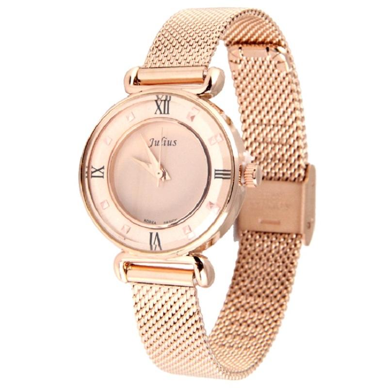 Đồng hồ nữ dây kim loại JULIUS JU964 (Đồng)