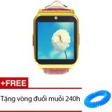 Đồng Hồ Thong Minh Co Khe Sim Smart Watch W90 Nau Tặng 1 Vong Đuổi Muỗi 240H Vietnam Chiết Khấu 50