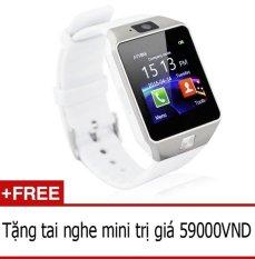 Giá Bán Đồng Hồ Thong Minh Hỗ Trợ Sim Điện Thoại Smartwatch Dz09 Trắng Tặng Tai Nghe Mini Trong Hồ Chí Minh
