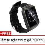 Giá Bán Đồng Hồ Thong Minh Hỗ Trợ Sim Điện Thoại Smartwatch Inwatch C Đen Tặng Tai Nghe Mini Rẻ