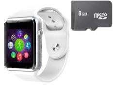 Cửa Hàng Bộ Đồng Hồ Thong Minh Smart Watch A1 Gắn Sim Độc Lập Va Thẻ Nhớ 8Gb Trắng Smart Watches Hồ Chí Minh