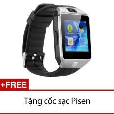 Giá Bán Đồng Hồ Thong Minh Smart Watch Uwatch Dz09 Bạc Hang Nhập Khẩu Tặng 1 Cốc Sạc Pisen Có Thương Hiệu