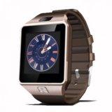 Mua Đồng Hồ Thong Minh Smartwatch Dz09 Nau Phối Vang Hitech Formatt Rẻ