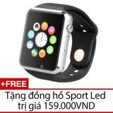 Đồng Hồ Thong Minh Smartwatch Uwatch A1 Đen Tặng Đồng Hồ Sport Led Trong Hồ Chí Minh