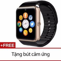 Đồng Hồ Thong Minh Uwatch C08 Viền Vang Tặng But Cảm Ứng Mới Nhất