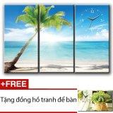 Giá Bán Đồng Hồ Tranh Bai Biển Binh Yen Dyvina 3T3060 4 Tặng 1 Đồng Hồ Tranh Để Ban Tốt Nhất