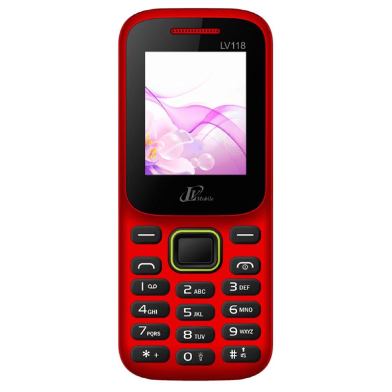 ĐTDĐ LV Mobile LV118 2 SIM (Đỏ)