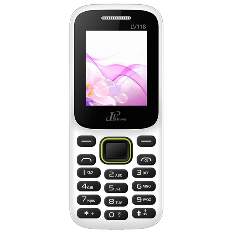 ĐTDĐ LV Mobile LV118 2 SIM (Trắng)