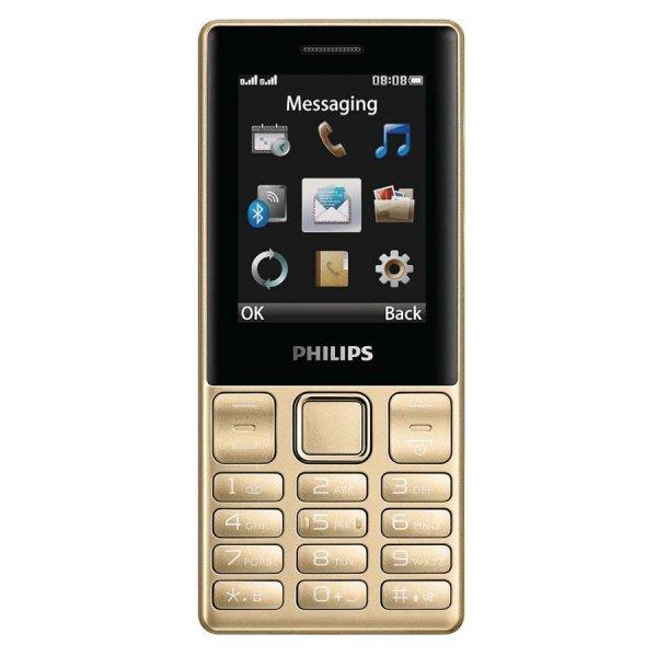 ĐTDĐ Philips E170 2 Sim (Vàng) - Hãng phân phối chính thức
