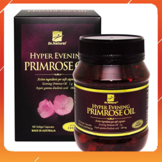 Viên uống Dr.Natural Hyper Evening Primrose Oil bổ sung và cân bằng nội tiết tố làm trắng da mờ nám tàn nhang 180 viên thumbnail